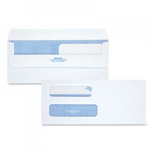 Quality Park Double Window Redi-Seal Security-Tinted Envelope, #8 5/8, Commercial Flap, Redi-Seal Closure, 3.63 x