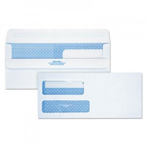 Quality Park Double Window Redi-Seal Security-Tinted Envelope, #9, Commercial Flap, Redi-Seal Closure, 3.88 x 8.88