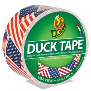 "Duck Colored Duct Tape, 3"" Core, 1.88"" x 10 yds, Red/White/Blue US Flag DUC283046"