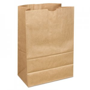 "Genpak Grocery Paper Bags, 40 lbs Capacity, 1/6 40/40#, 12""w x 7""d x 17""h, Kraft"
