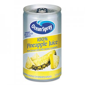 Ocean Spray 100% Juice, Pineapple, 5.5 oz Can OCS20454 OCE20454