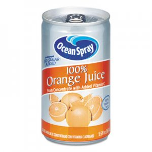 Ocean Spray 100% Juice, Orange, 5.5 oz Can OCS20453 094252