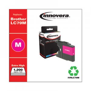 Innovera Remanufactured Magenta Extra High-Yield Ink, Replacement for Brother LC79M, 1,200 Page-Yield IVRLC79M