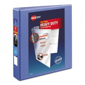 "Avery Heavy-Duty View Binder with DuraHinge and Locking One Touch EZD Rings, 3 Rings, 1.5"" Capacity, 11 x"
