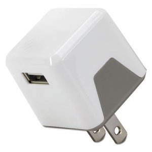 Scosche superCUBE Flip Wall Charger, USB, White SOSUSBH121WT USBH121WT