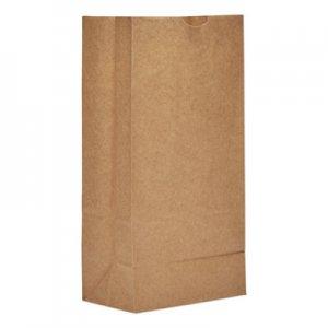 "Genpak Grocery Paper Bags, 6.13"" x 12.44"", Kraft, 500 Bags BAGGH8500 89319"