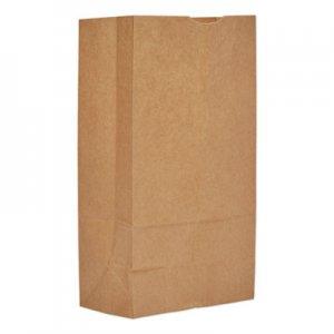 """Genpak Grocery Paper Bags, 12 lbs., 14.5"""" x 9.25"""" x 14"""", Kraft, 500 Bags BAGGH12 29812"""