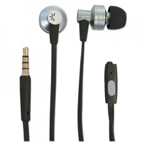 Case Logic 400 Series Earbuds, 4 ft Cord, Black/Silver BTHCLSTHD400 CLSTHD400