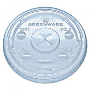 Fabri-Kal Greenware Cold Drink Lids, Fits 9, 12, 20 oz Cups, Clear, 1000/Carton FABLGC1220 9509111