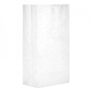 "Genpak Grocery Paper Bags, 5.25"" x 10.94"", White, 500 Bags BAGGW5500 51045"