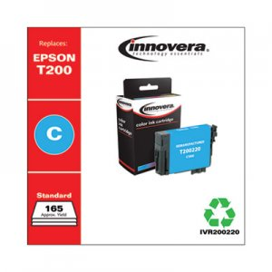 Innovera Remanufactured Cyan Ink, Replacement for Epson T200 (T200220), 165 Page-Yield IVR200220