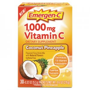 Emergen-C Immune Defense Drink Mix, Coconut Pineapple, 0.32 oz Packet, 30/Box ALA130603 130603