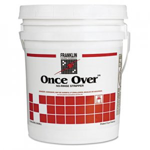 Franklin Cleaning Technology Once Over Floor Stripper, Mint Scent, Liquid, 5 gal. Pail FKLF200026 F200026