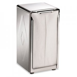 San Jamar Tabletop Napkin Dispenser, Tall Fold, 3 3/4 x 4 x 7 1/2, Capacity: 150, Chrome SJMH900X