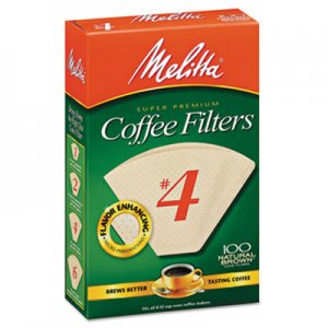 Melitta Coffee Filters, Natural Brown Paper, Cone Style, 8 to 12 Cups, 1200/Carton MLA624602 624602