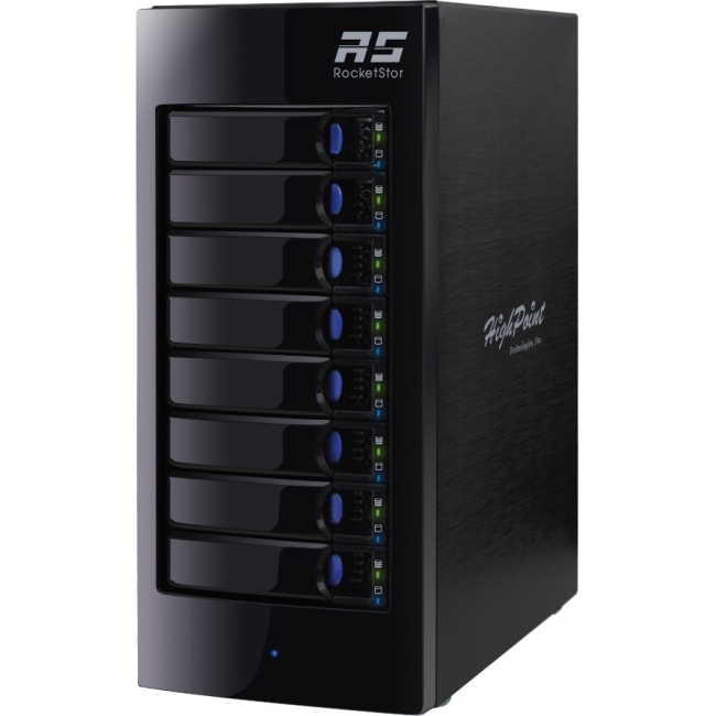 HighPoint RocketStor Hardware RAID Class 8-Bay Storage Tower Enclosure RS6418AS 6418AS
