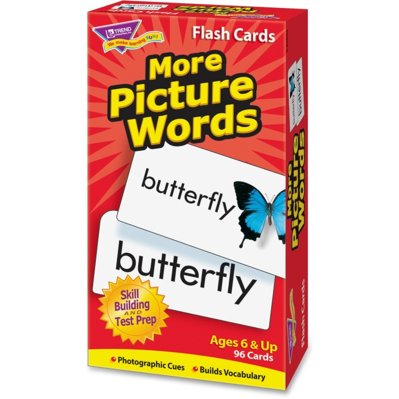 Trend More Picture Words Skill Drill Flash Cards 53005 TEP53005