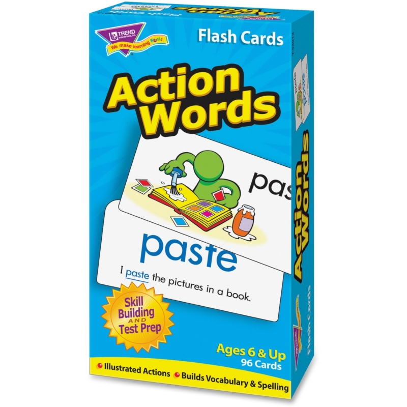 Trend Action Words Skill Drill Flash Cards 53013 TEP53013