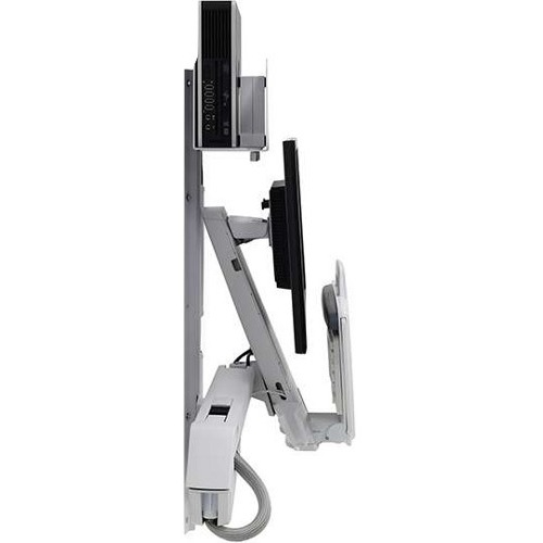 Ergotron StyleView Sit-Stand Combo System (White) 45-273-216