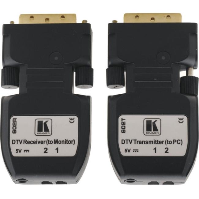 Kramer Detachable DVI Optical Transmitter & Receiver 602R/T