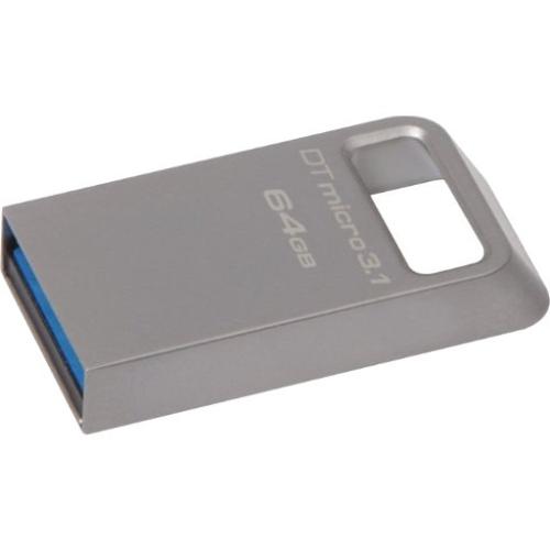 Kingston 128GB DTMicro USB 3.1/3.0 Type-A Metal Ultra-Compact Flash Drive DTMC3/128GB