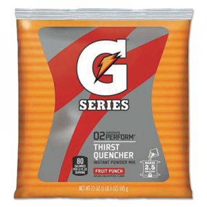 Gatorade Thirst Quencher Powdered Drink Mix, Fruit Punch, 21oz Packet, 32/Carton GTD33691 33691