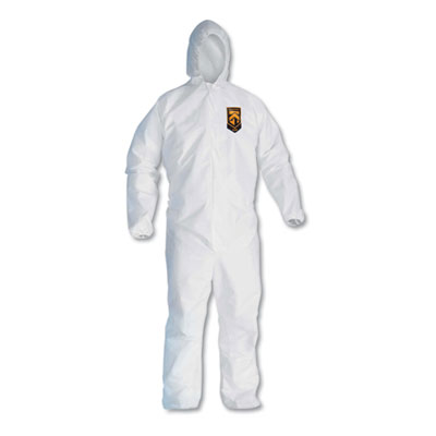 KleenGuard A20 Breathable Particle Protection Coveralls, Zip Closure, 2X-Large, White KCC49115 417-49115