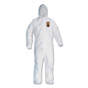 KleenGuard A20 Breathable Particle Protection Coveralls, Large, White, Zipper Front KCC49113 417-49113