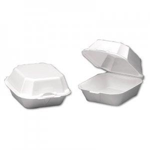 Genpak Foam Sandwich Container, Large, 1-Comp, 5 5/8 x 5 3/4 x 3 1/4, White, 500