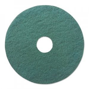 "Boardwalk Heavy-Duty Scrubbing Floor Pads, 19"" Diameter, Green, 5/Carton BWK4019GRE"