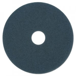 "Boardwalk Scrubbing Floor Pads, 19"" Diameter, Blue, 5/Carton BWK4019BLU"