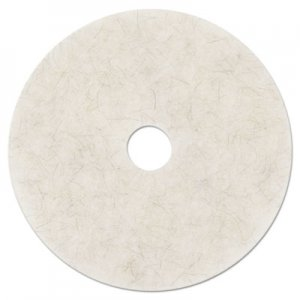 "3M Ultra High-Speed Natural Blend Floor Burnishing Pads 3300, 27"" Dia., White, 5/CT MMM20326 3300"