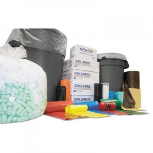 Inteplast Group High-Density Can Liner, 43 x 48, 60-Gallon, 12 Micron, Clear, 25/Roll IBSS434812N S434812N