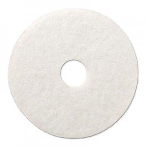 """Boardwalk Polishing Floor Pads, 16"""" Diameter, White, 5/Carton BWK4016WHI"""