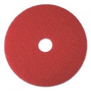 "Boardwalk Buffing Floor Pads, 15"" Diameter, Red, 5/Carton BWK4015RED"
