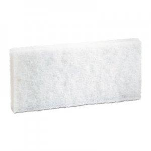 Boardwalk Light-Duty White Pad, 4 x 10, 20/Carton BWK401 8440BWK