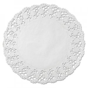 """Hoffmaster Kenmore Lace Doilies, Round, 16 1/2"""", White, 500/Carton HFM500260 500260"""