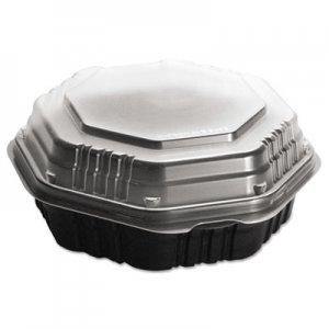 Dart OctaView HF Containers, Black/Clear, 31oz, 9.55w x 9.13d x 3.01h, 100/Carton SCC809011PP94 SCC 809011