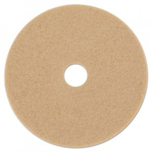 "3M Ultra High-Speed Floor Burnishing Pads 3400, 21"" Diameter, Tan, 5/Carton MMM05607 3400"