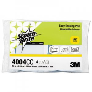 Scotch-Brite Easy Erasing Pad 4004, 2 4/5 x 4 1/2 x 1 1/5, Blue/White, 4