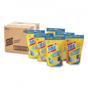 S.O.S Non-Scratch Soap Scrubbers, Blue, 8/Pack CLO10005PK 10005
