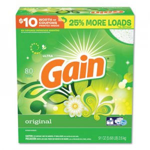 Gain Powdered Laundry Detergent, Original Scent, 91oz Box, 3/Carton PGC84910 PGC 84910