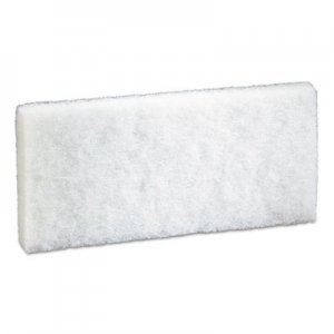 "3M Doodlebug Scrub Pad, 4.6"" x 10"", White, 5/Pack, 4 Packs/Carton MMM08003 8440"
