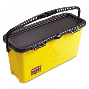 Rubbermaid Commercial HYGENE HYGEN Top Down Charging Bucket, Yellow/Black RCP1791802 1791802