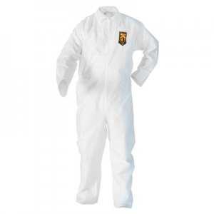 KleenGuard A20 Breathable Particle Protection Coveralls, 3X-Large, White, 20/Carton KCC49006 KCC 49006