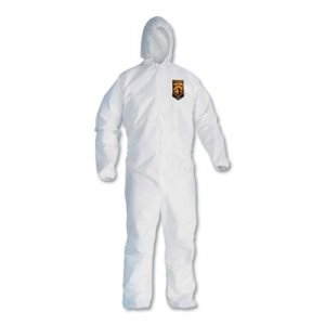 KleenGuard A30 Elastic-Back & Cuff Hooded Coveralls, White, 2X-Large, 25/Case KCC46115 KCC 46115