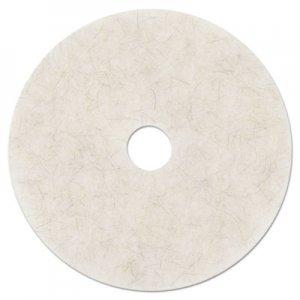 "3M Ultra High-Speed Natural Blend Floor Burnishing Pads 3300, 24"" Dia., White, 5/CT MMM18213 3300"