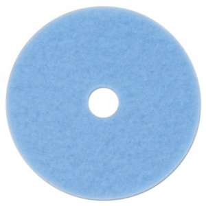 "3M Hi-Performance Burnish Pad 3050, 20"" Diameter, Sky Blue, 5/Carton MMM59825 3050"