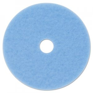 "3M Hi-Performance Burnish Pad 3050, 27"" Diameter, Sky Blue, 5/Carton MMM59824 3050"