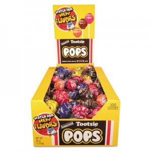 Tootsie Roll Tootsie Pops, 0.76 oz, Assorted Flavors, 100/Box TOO1014965 2571